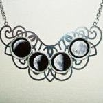 MOON PHASES Necklace Moon G..